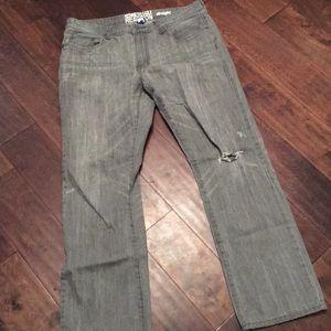 Men's 36/32 gray denim jeans Kenneth Cole reaction